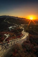 (julien_f) Tags: beijing china great wall fujifilm fuji xm1 samyang sunset autumn mountain asia