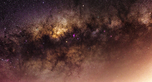 Mars Floating Past the Galactic Core