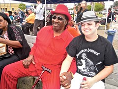 big george & matt - watch: (Shein Die) Tags: red biggeorgebrock harp harmonica jukejointfestival clarksdale streetscene streetphotography candid