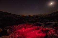 Necropolis pintadas de luz (Garimba Rekords) Tags: noche la rioja santa maria de piscina pecia cielo estrellas necrpolis linterna luz roja panormica