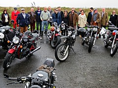 Distinguished Gentlemens Ride (jimjiraffe) Tags: motorcycle bike outdoor dgr distinguished gentlemen ride rideout dapper classic classicbike caferacer oldschool old awareness prostatecancer blueseptember suit newplymouth taranaki jimjiraffe