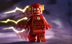 The Flash (2016) (Andrew Cookston) Tags: lego dc comics dccomics flash theflash barryallen wallywest red yellow purple christo christo7108 onlinesailin photoshop custom minifig stilllife toy nikon macro photography andrewcookston
