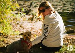 _MG_9481 (Brandon Ricklefs) Tags: explorersoflight naturallight goldenhour nature park libertystatepark girlfriend girl dog adventure vsco vscocam