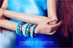 French Nails (Michaela Unbehau Photography) Tags: complete outfit accesories from pure icon paris httpwwwebaycomusrpureiconparis fr frdoll fashion royalty french nails bracelets blue