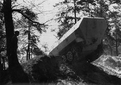 Training on the new Sd.Kfz. 251 of the Leibstandarte Division in Belgium delivered before the invasion of Normandy.