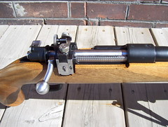 Schultz & Larsen M69 Target Rifle -- bolt, Danish aperature sight, receiver (secretazure) Tags: germany denmark gun bolt guns 12 woodstock receiver firearms extractor diopter stockwood mauser madeingermany matteblack k98 madeindenmark 65x55 bolthandle beechstock k98mauser 65x55mmswedishmauser riflebolt mauserreceiver mauserbolt mauserbolthandle receiverstamp paulmauser forgedreceiver armacoat woodbeech mauserclawextractor mauserreceiverrail mauserreceiverstamp mauserthumbcutout weimajack k98bolt mauserboltknob otterupmauser 1943byf 1943byfk98mauseraction danishm69dioptersight schultzlarsen schultzlarsenm69 schultzlarsenm69targetrifle schultzlarsenotterup schultzlarsenm58 schultzlarsenm58targetrifle largeringmilitarymauser jeweledextractor