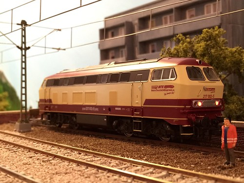 BahnTouristikExpress GmbH 217002-5 HO Scale, custom decals by Andreas Nothaft, Lilliput Model