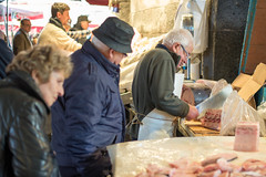 Old man at work (Koupal D) Tags: life old travel people italy fish man work trabajo nikon italia gente market stall mercado sicily pescado nikkor viejo fishmarket catania sicilia pesce lavoro  mercatodelpesce  lapescheria 50mmf18g  nikond610