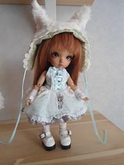 Nyra's new dress (~Akara~) Tags: face up ball outfit doll hand dress skin handmade tan made fairy land vanilla bjd fl custom fairyland ts fee jointed puki faceup pkf pukifee