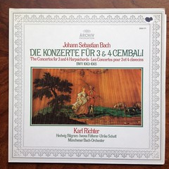Bach - The Concertos for 3 & 4 Harpsichords BWV 1063-BWV 1065 -  Karl Richter, Hedwig Bilgram, Iwona Futterer, Ulrike Schott Cembalo Clavecin, Munchener Bach-Orch., DGG Archiv 2533 171 (Piano Piano!) Tags: musician artwork album vinyl collection record sleeve hoes 12inch vynil hulle hedwigbilgram munchenerbachorch bachtheconcertosfor34harpsichordsbwv1063bwv1065karlrichter iwonafutterer ulrikeschottcembaloclavecin dggarchiv2533171 recordalbumdisclpvinylvynil12inch coverarthoeshulle12inch discdisquerecordalbumlplangspeelplaatgramophoneschallplattevynilvinyl