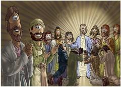 Mark 16 - Resurrection of Jesus - Scene 05 - Jesus Message (Martin Young 42) Tags: simon john easter james christ thomas matthew mark jerusalem jesus andrew peter levi zealot nathaniel messiah philip marymagdalene resurrection disciples bartholomew didymus thaddaeus cleopas jamesthesonofalphaeus marksgospel sonofzebedee mark168b