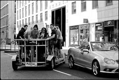 Mercedes overtaken - DSC_8984a (normko) Tags: city london sports car square tourist visitor mile cityoflondon cheapside merceded pedibus