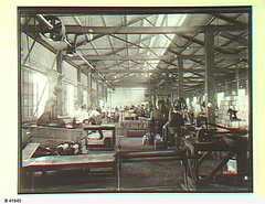 Fuel machine shop at petroleum refinery, Birkenhead. - Photograph courtesy of the State Library of South Australia (paelocalhistory) Tags: industry buildings birkenhead commercial petroleum britishimperialcompany statelibraryofsacollection