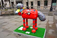 London Shaun In The City, Robo-Shaun By Tim Sutcliffe (Martin Pettitt) Tags: city uk sculpture london march spring dslr 2015 shaunthesheep ardman afsdxvrzoomnikkor18200mmf3556gifedii timsutcliffe londontrail nikond7100 shauninthecity roboshaun