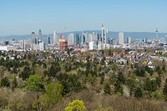 Frankfurt - green City (silberne.surfer) Tags: skyline nikon skyscrapers frankfurt nikkor sachsenhausen stadtwald goetheturm 2015 frankfurtsachsenhausen nikkor70200mmf4 frankfurtstadtwald nikond750 franfurtskyline