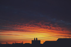 rainbow sky (thatgirlwiththekicks) Tags: morning blue red sky orange ontario canada silhouette yellow clouds sunrise dawn golden purple stthomas saintthomas