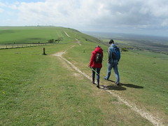 UK - West Sussex - Near Fulking - Walking along South Downs Way (JulesFoto) Tags: uk england walking westsussex ramblers fulkingescarpment southdownsnationalpark northeastlondonramblers