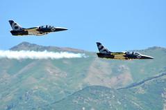 Breitling Jet flyby (Great Salt Lake Images) Tags: utah flyby hillairforcebase thebreitlingjetteam warriorsoverthewasatch utahairshow