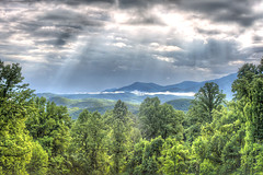 Sky is the Lmiit (LarryHB) Tags: park travel sky mountain nature horizontal clouds forest landscape photography nationalpark tennessee scenic hdr overview 2016