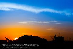 Sunset at Leatherneck (Steven Green Photography) Tags: campleatherneck stevengreenphotography afghanistan communications gradient military scenic silhouette stevegreen sunset technology tent stevenrgreen