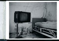 (.tom troutman.) Tags: polaroid land 250 fuji fp 3000b blackandwhite film analog instant abandoned hospital nj