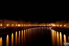 River Arno, Pisa, Italy (hexaphobic) Tags: pisa river arno italy nikon d60 nikond60 night orange reflection