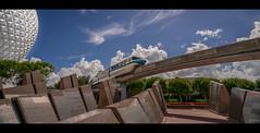 Epcot - Monorail Blue (Dude with a Canon) Tags: disneymay2015 wdw monorail epcot disney waltdisneyworld spaceshipearth sony sonya7