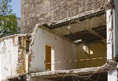 Baustelle neben Goethehaus, Frankfurt am Main 2016 (Spiegelneuronen) Tags: frankfurtammain bauarbeiten groserhirschgraben romantikmuseum