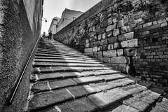 stairs (brucexxit) Tags: lazio altolazio biancoenero bw portone scale sanpellegrino viterbo tuscia medieval