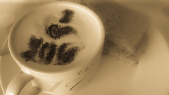 A loveletter in my cappuccino (babs van beieren) Tags: coffee cappuccino breakfast bread heart love morning