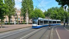 Peaceful and Sunny (Peter ( phonepics only) Eijkman) Tags: city holland netherlands amsterdam transport nederland tram rail rails trams strassenbahn noordholland gvb streetcars combino nederlandse