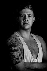 A Portrait (David.Owens) Tags: camera portrait blackandwhite bw monochrome flash off tamron f28 jasonowens 2470mm pocketwizard davidowens canoneos7d flextt5 minitt1