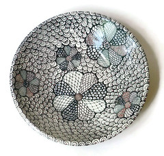 Crazy Doodle Bowl (jmnpottery) Tags: ceramics pottery jmnpottery etsy bowls pots planters utensilholder prepbowls mugs