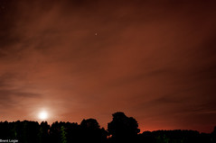 Light Pollution (AltoScroll) Tags: longexposure trees light sky orange moon night stars pollution lightpollution
