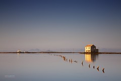 Old and New (gregoryphoto150) Tags: marmenor sea calm flat architecture history dawn water outdoor seascape landscape coastal murcia espana spain lo pagan lamanga lopagan island mountains reflections buildings old new ruin