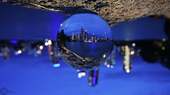 Inverted 2 (PhilPhotosity) Tags: glass night ball weird upsidedown crystal sphere trippy inverted woah crystalball goldcoast