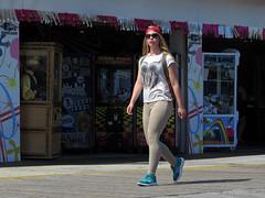 Boardwalk Steppin' (Multielvi) Tags: wildwood nj new jersey shore tights candid shades boardwalk girl woman