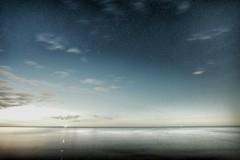 Night sky during full moon, high ISO long exposure (Michael Schnborn) Tags: longexposure sky beach stars nightshot samsung wideangle highiso milkyway nx nx500 walimexpro12mm20