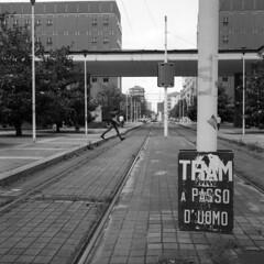 Milano (Valt3r Rav3ra - DEVOted!) Tags: street blackandwhite bw 120 6x6 film rolleiflex milano streetphotography ilforddelta400 biancoenero analogico urbanvisions medioformato milanobicocca visioniurbane valt3r valterravera
