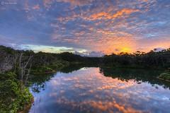 Lake Sunset (kijimuna.) Tags: symmetry calm tranquil lake sunset landscape okinawa japan ogimi yanbaru            taihodam  canon eos6d water reflection dramatic clouds