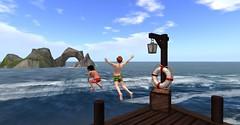 20160703 - PatrickUnicorn_04_001 (Patrick Unicorn) Tags: boy girl pier jumping fun sport water sea shore beach dive