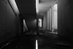 prospettive ingannevoli - misleading perspectives (francesco melchionda) Tags: cavtat blackwhite light shadows opposite abandoned decay decadence urbex urbanexploration skeleton