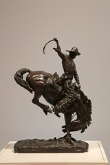 Tacoma Art Museum - Cowboy (suswann) Tags: tacomaartmuseum statue cowboy