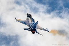 Hellenic Air Force's Demo Team Zeus F-16C (DrAnthony88) Tags: f16demoteamzeus greekairforce lockheedmartinf16cblock52fightingfalcon modernmilitary nikkor200400f4gvrii nikond810 raffairford aircraft vapor vapour