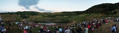 Festival international de feux dartifice de Decazeville 2016 (Sbastien Vermande) Tags: mine pit aveyron decazeville fireworks public panoramic