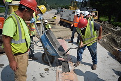 Ultra-High Performance Concrete (VTrans - Vermont Agency of Transportation) Tags: waitsfield vermont vermontagencyoftransportation vtrans bridge construction acceleratedbridgeconstruction acceleratedbridge vt 100 mad river concrete ultrahigh performance