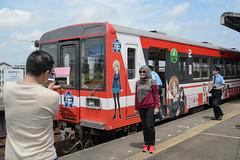 A GuP lover from foreign country (kasa51) Tags: train station platform people gup foreigntourist oarai ibaraki japan  kashimarinkaitetsudo