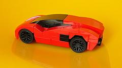 Lamborghini (MOC) (hajdekr) Tags: lambo lamborghini lamborghinimoc moc myowncreation small easy simple basic toy vehicle car automobile 4stud four 4x4 race racer racing sport sportscar speed champion champs red fast