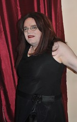 Kay, Back in Black! (Kay Bea Chisholm) Tags: kay lbd brunette lipstick powder eyeshadow mascara favourite trannie transvestite home selfies wig loomband necklace