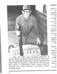 1924 Hammond Cedar - Norm Goodall (Maple Ridge Museum & Archives) Tags: baseball history hammond mapleridge